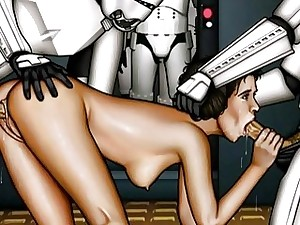 Starlet Wars xxx strip show bang-out