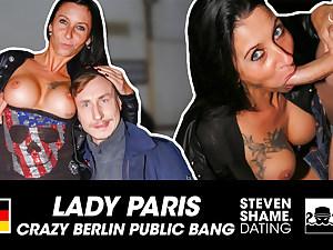 PUBLIC FUCK: German MILF LadyParis! StevenShame.dating
