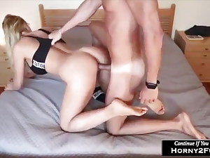 Big bumpers and hard-core doggystyle fuck at home