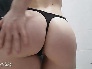 In the bathroom masturbating my ass and slit – Anna Mole