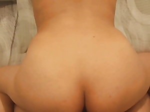 doggy style with co-worker and cum on bum