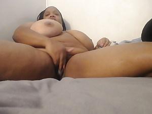 Watching porn she got wet
