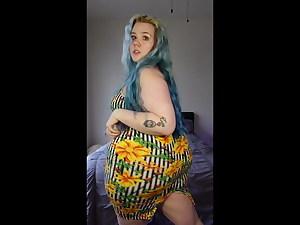 RAINBOW Pear gag Phat ass white girl WITH A HUGE ASS 13