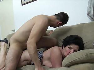 Klotild Seduced by Horny Young Guy
