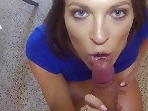 BigNaturals Counterbalance old-fashioned Gives Blowjob Overhead Homemade V