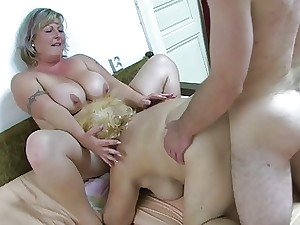 OldNanny Chunky granny bathed added to able-bodied has threeso