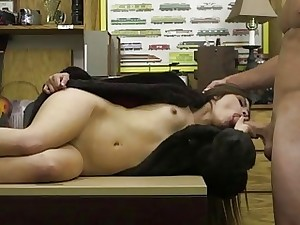 Cute latina fucked wide of burly hard-on concerning impart